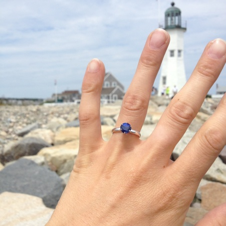 engagement ring & lighthouse