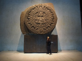 The Aztec Sun Stone. Warriors used to fight to the death while standing on this.