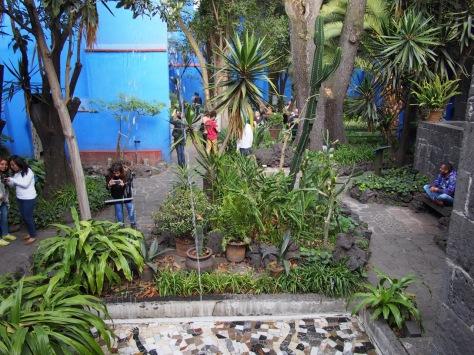 Courtyard at Casa Azul