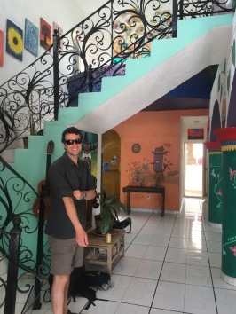 David in the hostel foyer - we loved Vivo Escondido!