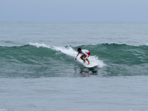 Our friend surfing in Dominical