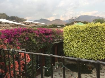 The upstairs terraza at Los Tres Tiempos